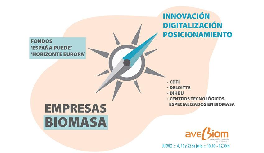Las empresas de biomasa ante los fondos de recuperación, el Horizonte Europa y la digitalización
