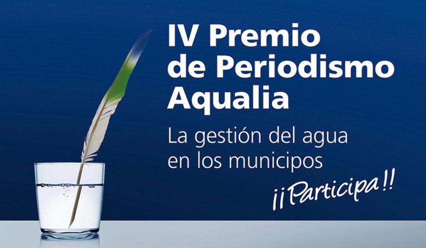 Última semana para participar en el IV Premio de Periodismo Aqualia