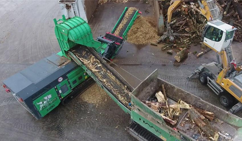 Triturador y molino HAAS para el tratamiento de troncos y raíces