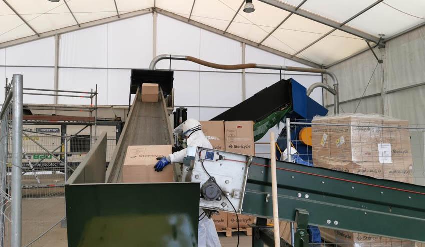 La planta provisional habilitada por Sogama para tratar residuos sanitarios deja de operar
