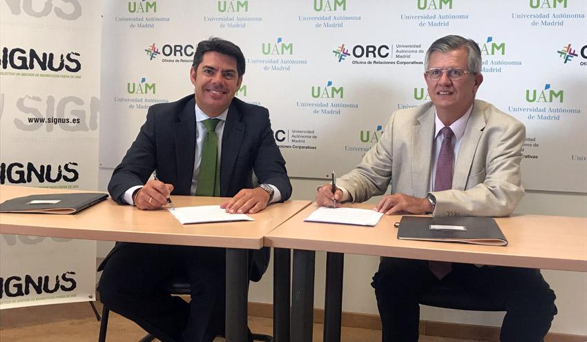 SIGNUS y la Universidad Autónoma de Madrid impulsan la formación en el ámbito de la economía circular