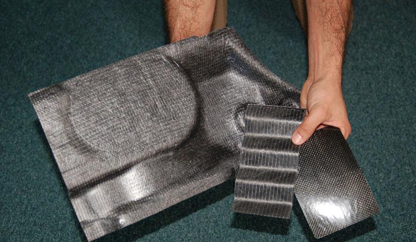 Nuevas aplicaciones de valor añadido a partir de residuos de prepreg y composites de fibra de carbono