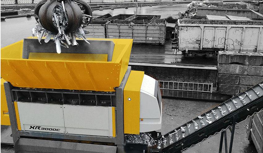 UNTHA XR, la potente trituradora profesional para metal