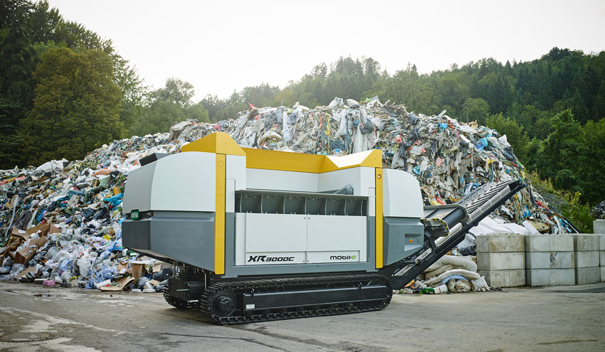 UNTHA XR mobil-e, tecnología para el tratamiento de residuos sin emisiones de CO2