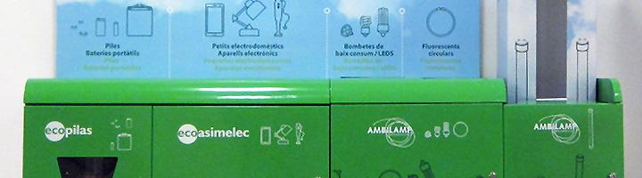 Leroy Merlin instala multicontenedores de recogida de residuos de aparatos eléctricos y electrónicos en sus centros de Cataluña