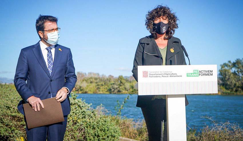 La Generalitat de Cataluña presenta el Plan integral de gestión del agua dulce del delta del Ebro