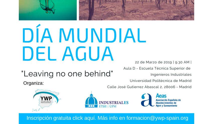 Young Water Professionals Spain organiza una jornada el 22 de marzo por el Día Mundial del Agua