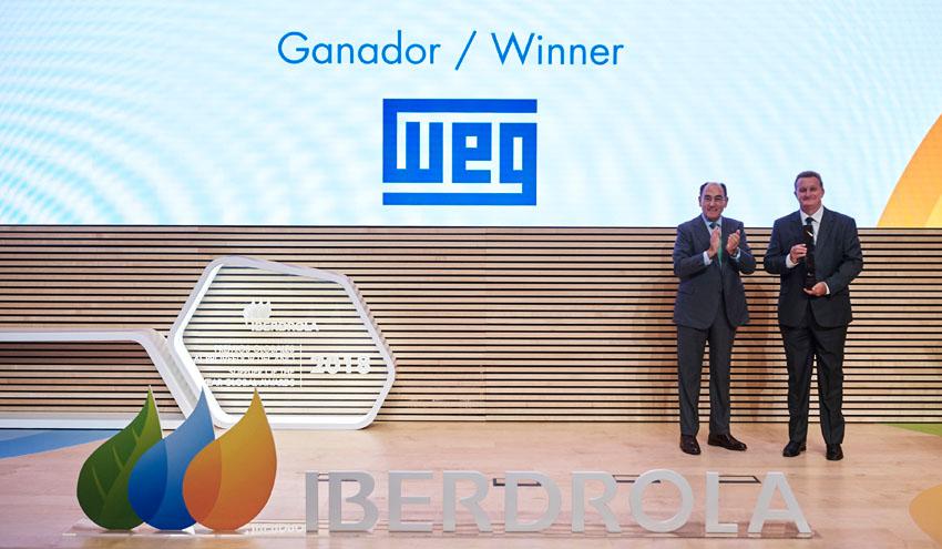 WEG recibe el Premio Proveedor del Año 2018 de Iberdrola