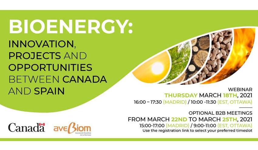 España y Canadá se unen en innovación, proyectos y oportunidades en el sector de la bioenergía