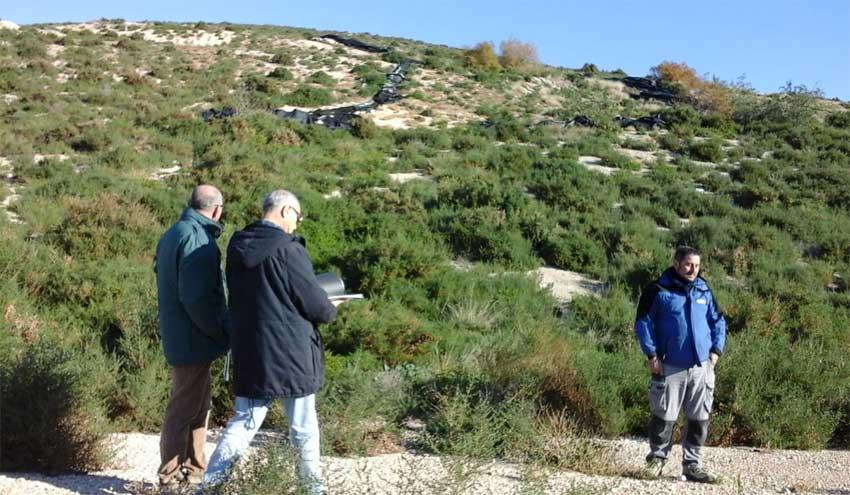 La Generalitat Valenciana ultima las obras de sellado del antiguo vertedero El Buho de Elche