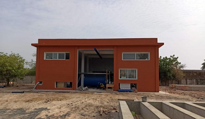 Avanza el montaje de la Estación de Tratamiento de Agua Potable de Foundiougne en Senegal