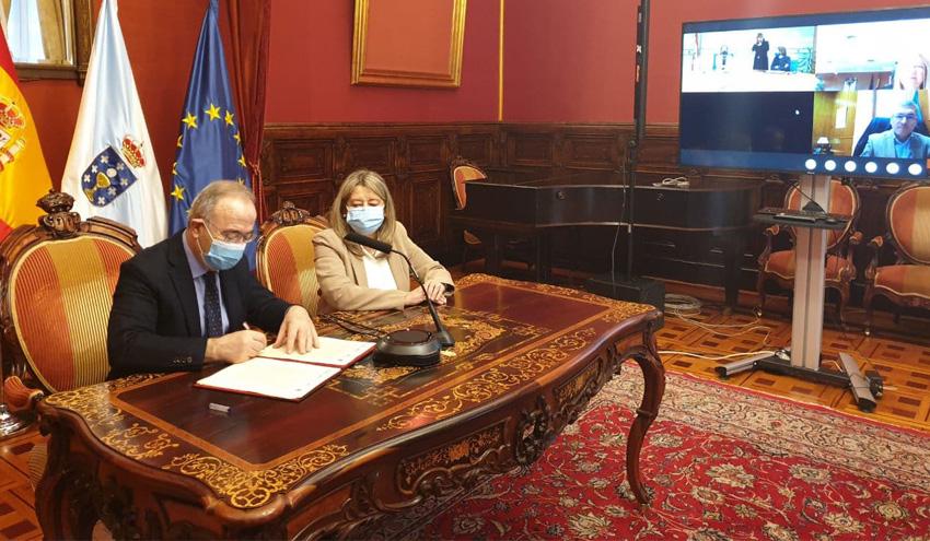 Suscrito el convenio para la ejecución y explotación de la nueva depuradora de Silvouta