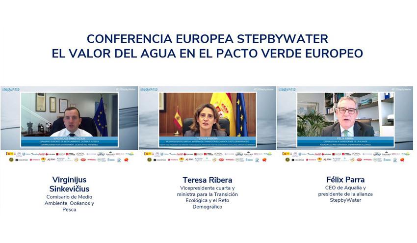 El papel del agua en la transición ecológica centra el debate en la primera Conferencia Europea StepbyWater