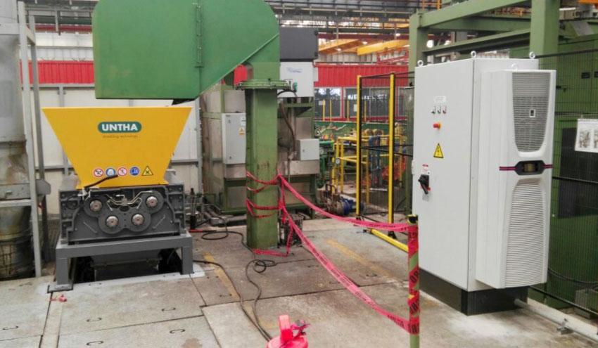 UNTHA Ibérica México entrega dos nuevos equipos RS40 para reciclaje de restos de producción de acero