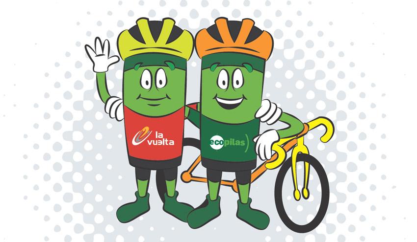 Ecopilas fomentará el reciclaje de pilas durante la Vuelta a España