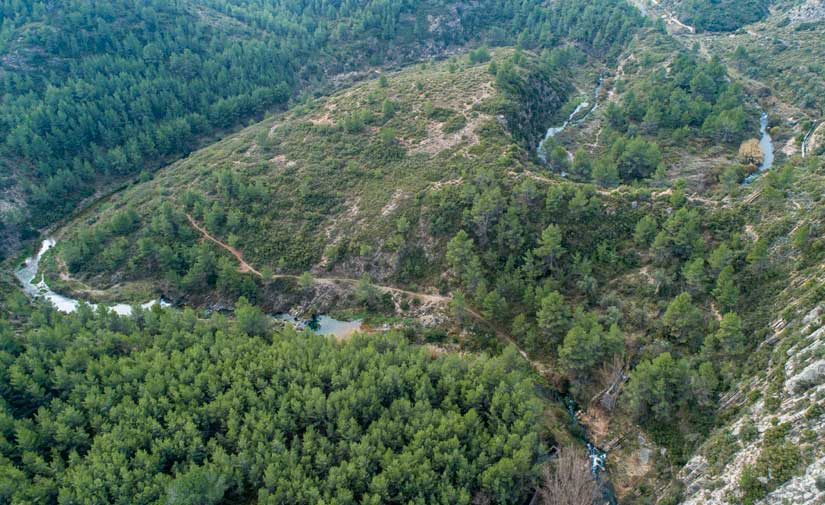 El Río Palancia vuelve a llevar agua después de cinco décadas gracias a los trabajos de recuperación fluvial