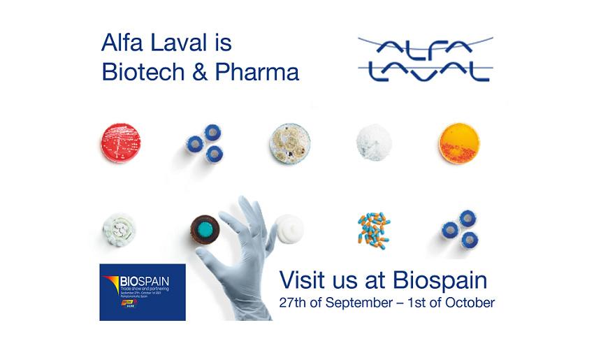 Alfa Laval estará presente en BIOSPAIN, el mayor evento europeo de la industria biotecnológica