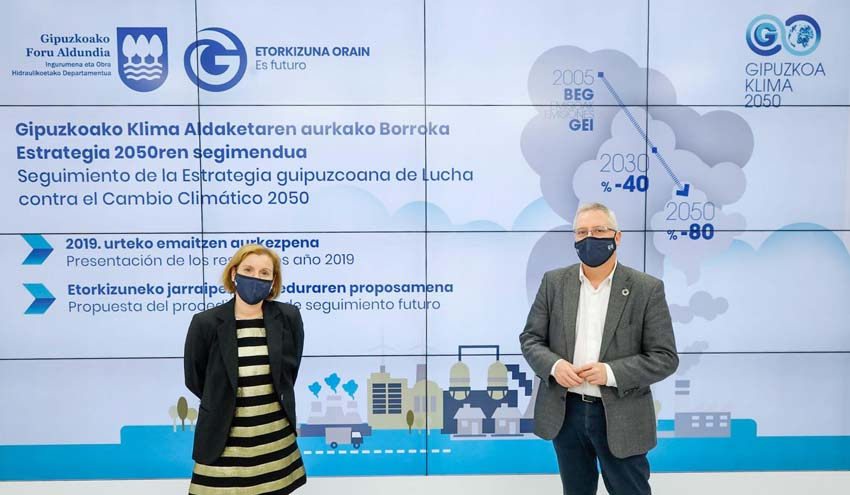 Gipuzkoa presenta el segundo informe de seguimiento de su estrategia contra el cambio climático