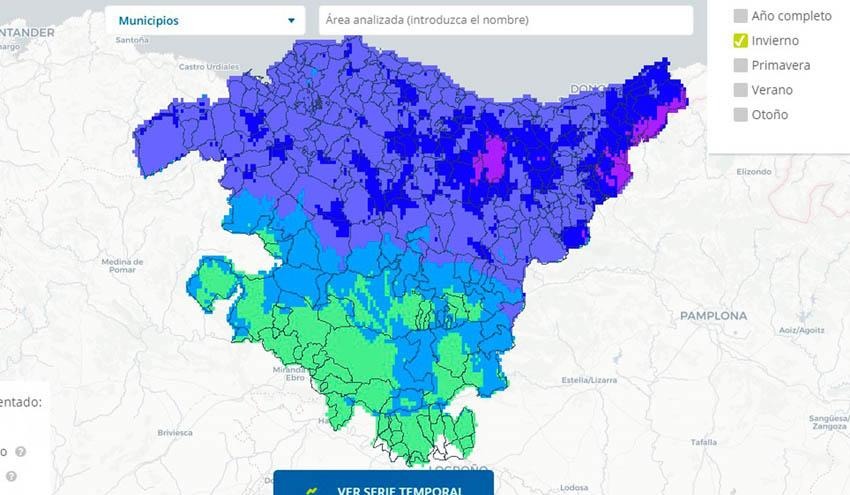 Ihobe publica un visor de escenarios climáticos