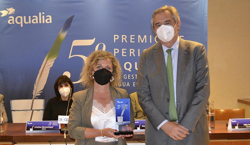Un reportaje sobre la detección de COVID-19 en las aguas residuales, ganador del 5º Premio de Periodismo Aqualia
