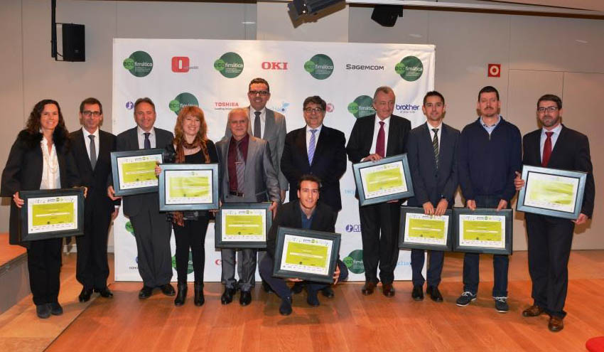 Catorce distribuidores de ofimática de Cataluña, galardonados en los I Premios ECO Cataluña