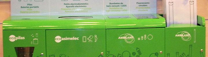 Los ocho centros comerciales de El Corte Inglés en Cataluña, pioneros en la instalación de multicontenedores de reciclaje para RAEE