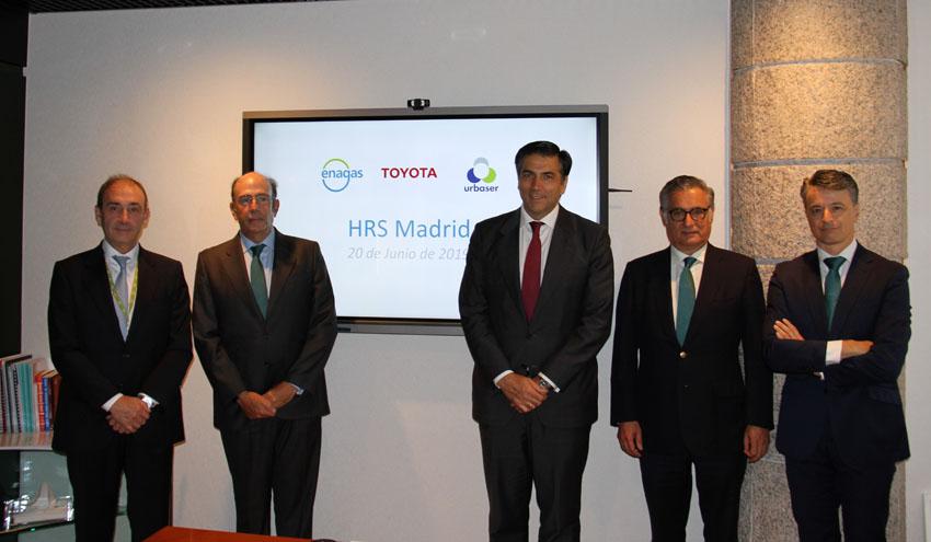 Un acuerdo entre Urbaser, Enagás y Toyota permitirá instalar la primera estación de repostaje de hidrógeno de España