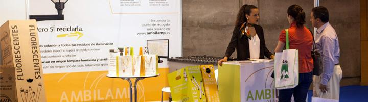Ambilamp presenta sus últimas novedades en el reciclaje de lámparas y luminarias en TECMA y el Foro LEDsEE