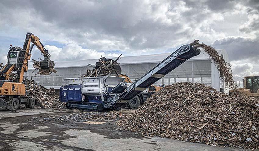 RGS Nordic cuida del medio ambiente en el norte de Europa con la trituradora Lindner Armada