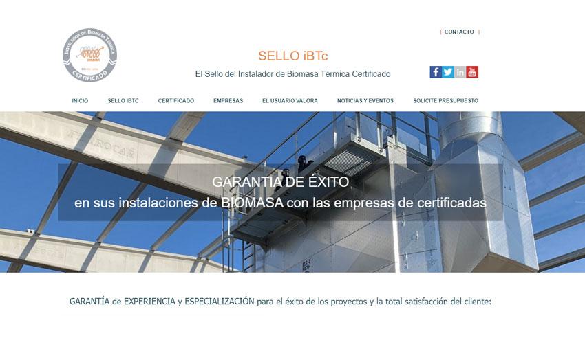 Avebiom pone en marcha la web que gestiona el Sello del Instalador Certificado iBTc