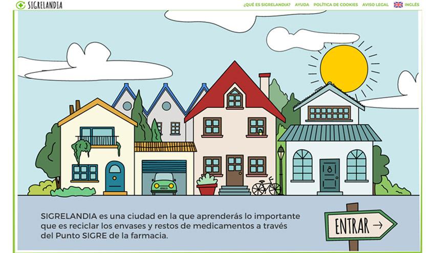SIGRELANDIA, una web educativa sobre salud y medio ambiente para niños