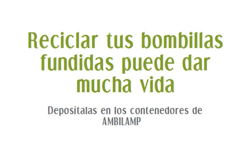 'SOLIDARILAMP' de Ambilamp llega al Grupo El Corte Inglés para fomentar el reciclaje bombillas