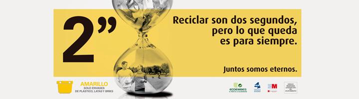 """""""Dos segundos"""", la nueva campaña de sensibilización sobre el reciclaje de la Comunidad de Madrid y Ecoembes"""