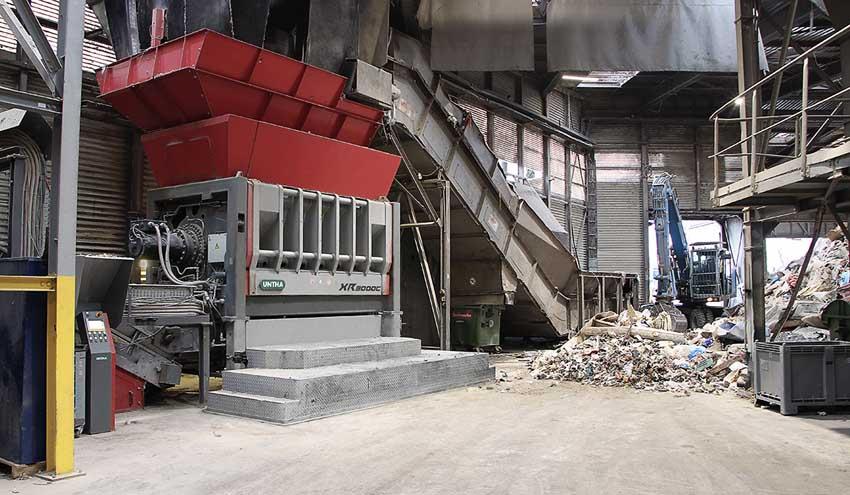 Una trituradora de residuos de bajo consumo para Saubermacher Dienstleistungs AG