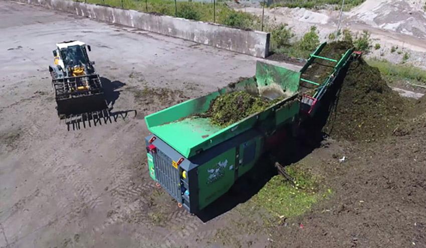 Trituración de residuos verdes con HAAS TYRON