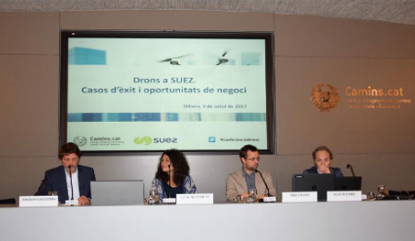 SUEZ Spain impulsa una jornada sobre el uso de drones en el Colegio de Ingenieros de Caminos de Catalunya