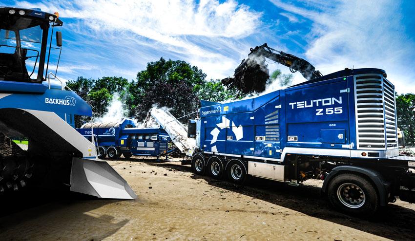 Tecnología de cribado y triturado del Grupo Eggersmann para el tratamiento de biomasa