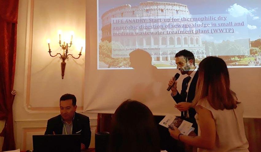 Los avances del proyecto LIFE ANADRY se presentan en Roma durante el evento SMICE 2018