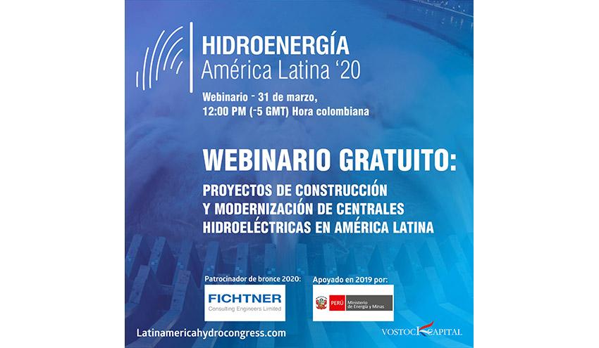 """Seminario web """"Hidroenergía en América Latina: Proyectos de construcción y modernización de Centrales Hidroeléctricas"""""""