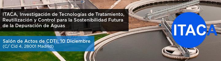 El 10 de diciembre se presentarán los resultados del proyecto ITACA sobre nuevas tecnologías para la futura depuración de aguas
