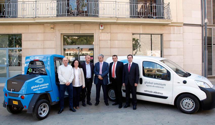 Global Omnium incorpora vehículos eléctricos para el servicio de agua en Massamagrell