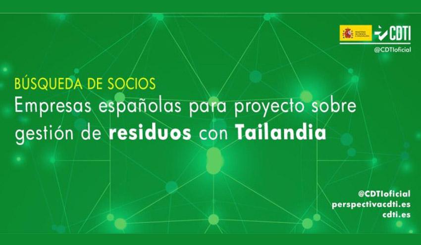 El CDTI busca empresas españolas para colaborar en un proyecto sobre residuos con Tailandia
