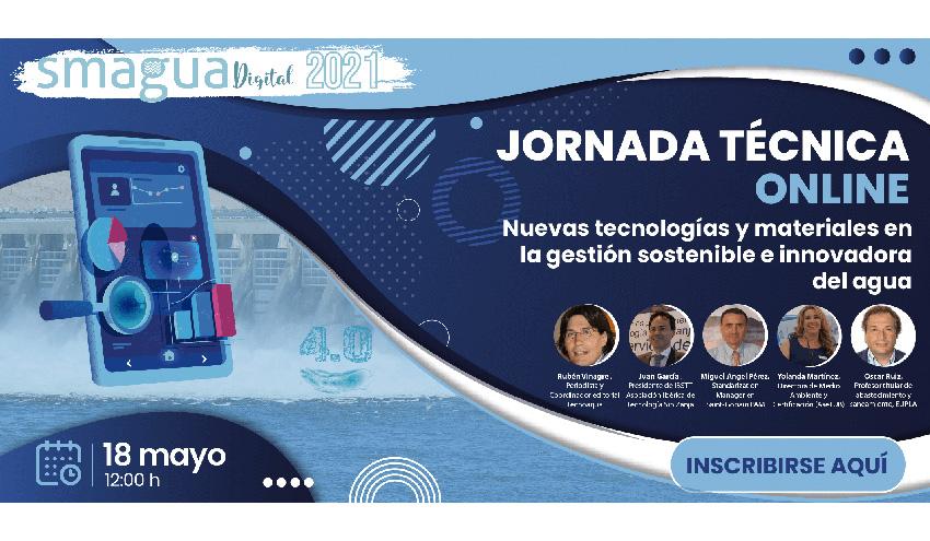 La gestión sostenible e innovadora del agua, eje de la próxima sesión de SMAGUA Digital