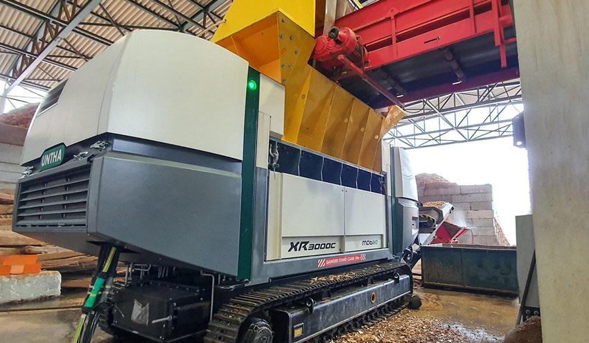 Ragg confía en la UNTRHA XR3000C mobil-e para el reciclaje de materiales reutilizables