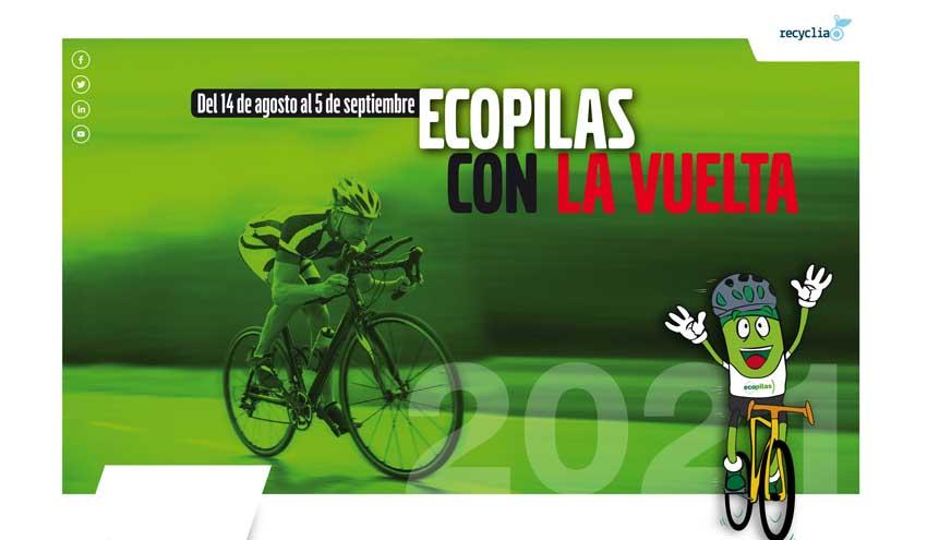 Ecopilas prevé recoger 2.000 kilos de pilas usadas durante la Vuelta a España