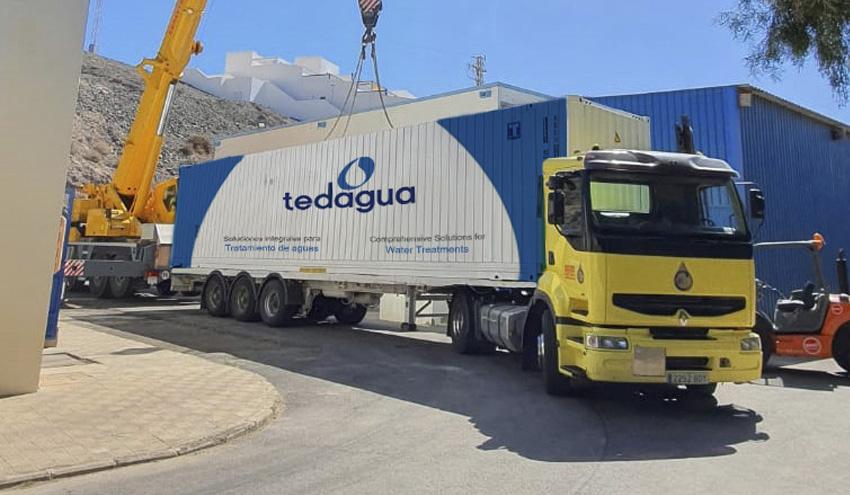 Tedagua concluye la instalación de seis plantas desaladoras contenerizadas en Fuerteventura