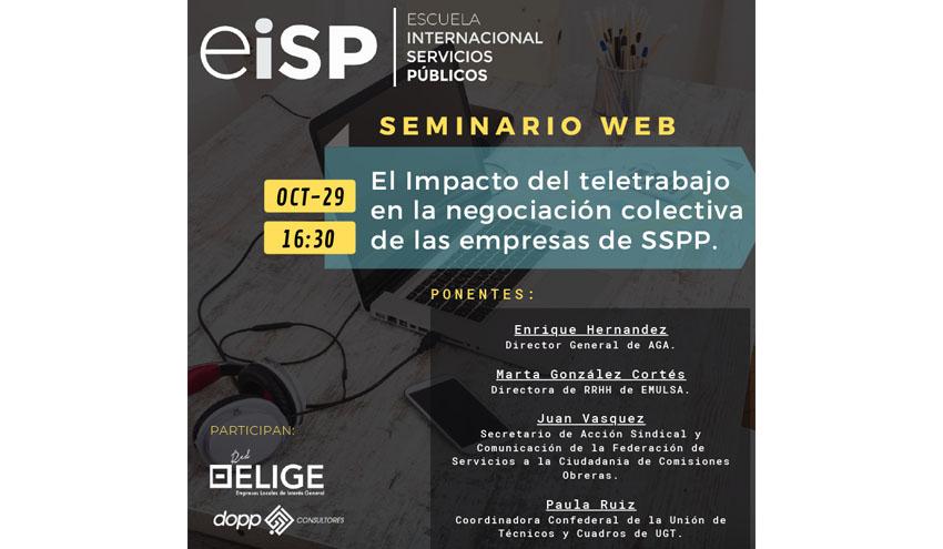 Teletrabajo y Negociación Colectiva: mesa redonda jueves 29 16:30 con la participación de AGA