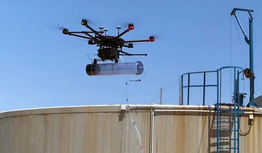 DAM y el IBEC desarrollan un dron para mejorar el análisis de olores en depuradoras