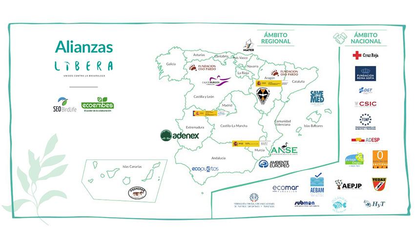 El Proyecto LIBERA impulsa una red de 29 alianzas para atajar el problema de la basuraleza