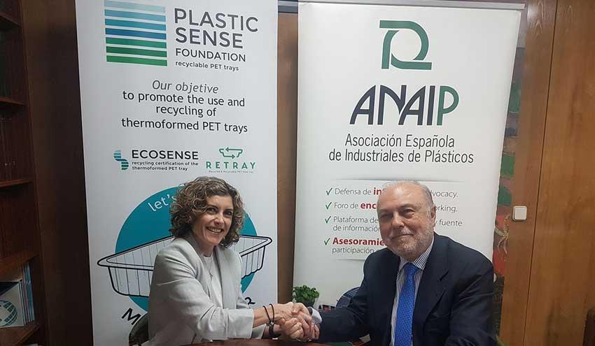 ANAIP y la Fundación PLASTIC SENSE firman un convenio para promocionar el reciclaje